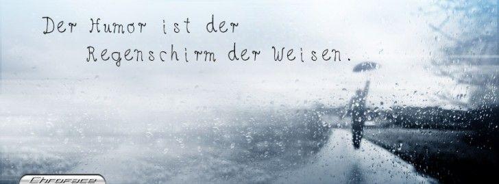 Facebook Titelbilder - Humor Regenschirm Titelbild