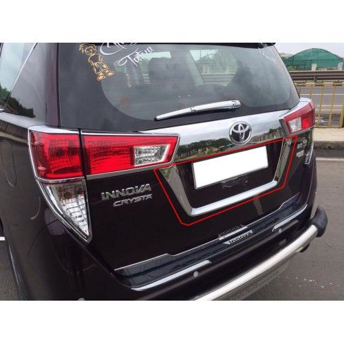 8fab9d1d92d Toyota Innova Crysta Number Plate U Type Chrome Cover