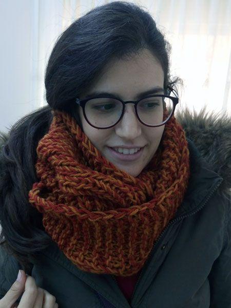 Σεμινάριο Πλέξιμο με Βελόνες Α΄Κύκλος.Infinity scarf με πλεξίδα