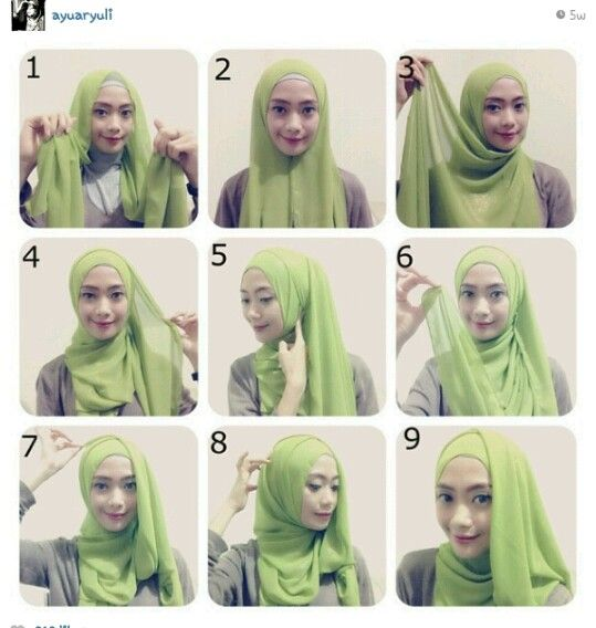 Hijab tutorial from ayu aryuli.