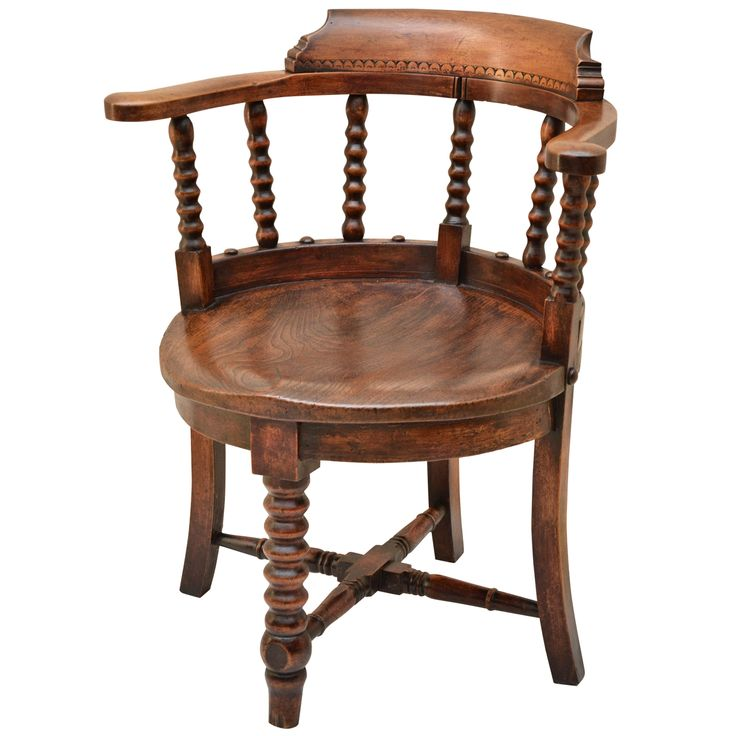 English Victorian Smokers Bow Arm Chair | From a unique collection of antique and modern armchairs at https://www.1stdibs.com/furniture/seating/armchairs/