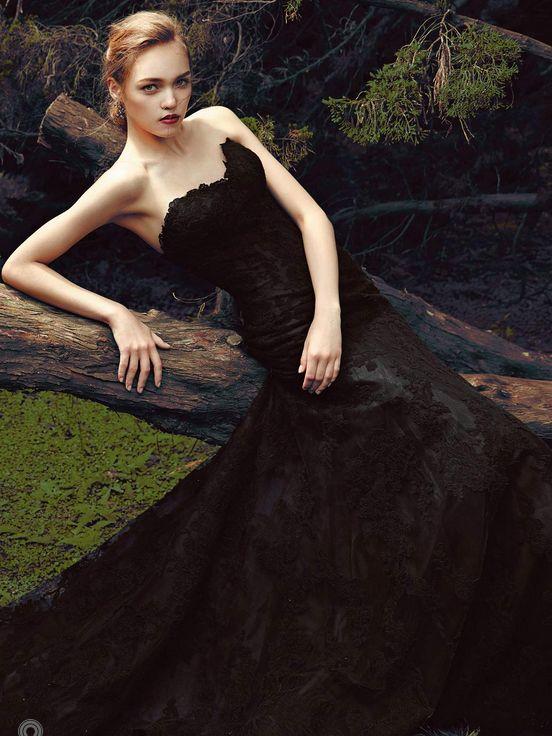 zwarte trouwjurken voor je droombruiloft
