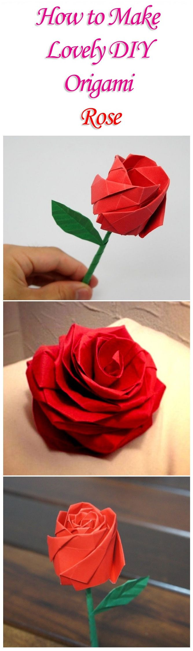 12 best origami images on pinterest origami flowers oragami and how to make lovely diy origami rose izmirmasajfo
