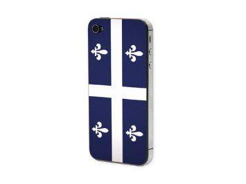 Προστατευτικό Αυτοκόλλητο για iPhone 4/4S (Drapeau Quebec)
