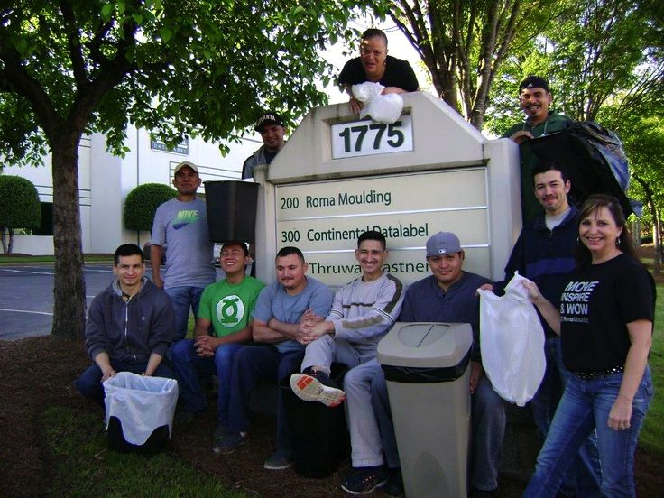 Our Atlanta Team participating in an Earth Day cleanup!