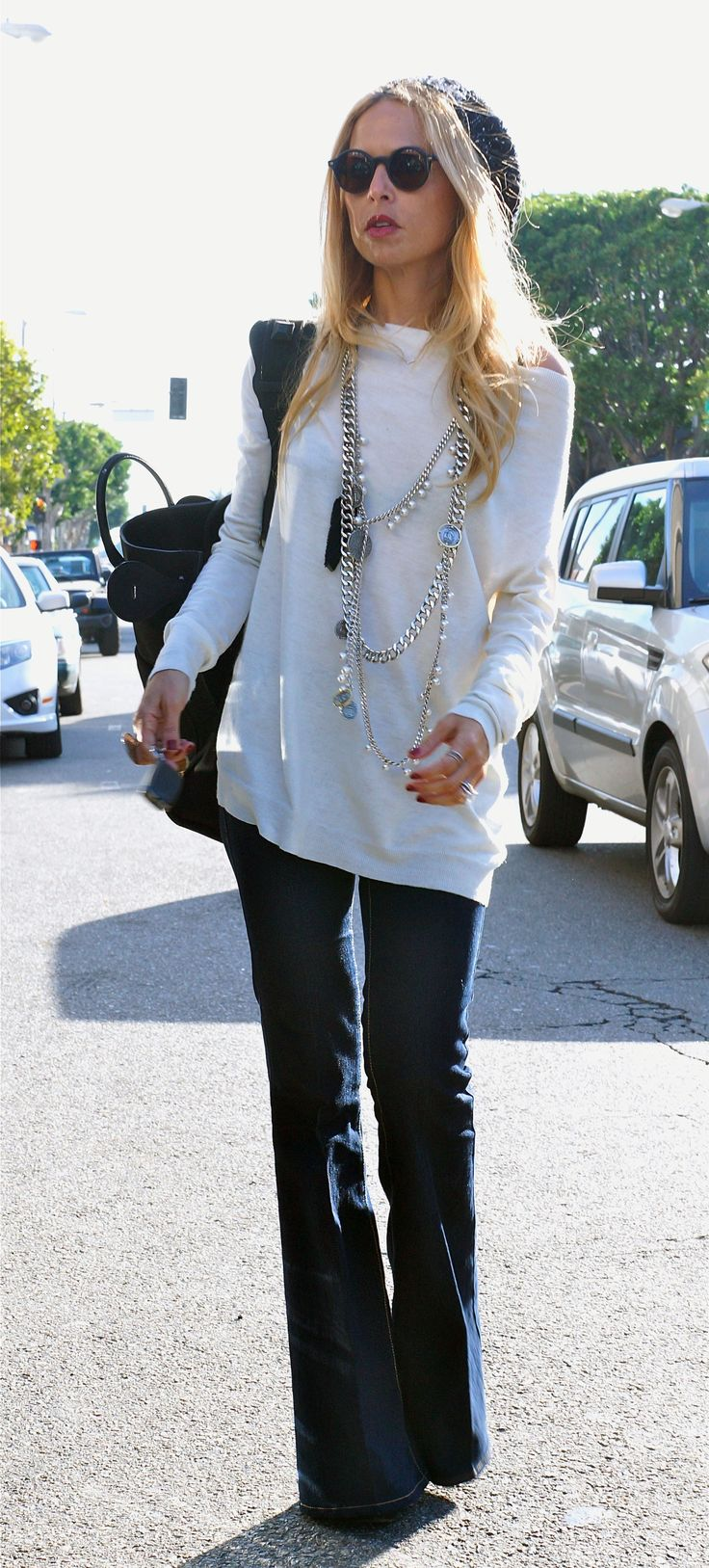 Rachel Zoe in bell-bottom jeans by StalkER :: fashion looks. She does it again. See no shoes peaking out, she's literally my fashion idol!!