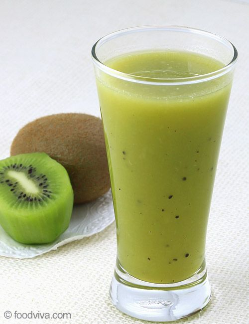 Juicy kiwifruit can be mixed with any fresh fruit to make healthy fruit juice. This kiwi juice recipe uses fresh and ripe kiwifruits, apple and celery, however, you can replace apple with any other sweet fruit of your choice for a variation.