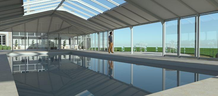 Une image vaut mieux qu'un long discours... Modélisation #3D de votre #véranda pour #piscine avec Import Garden !