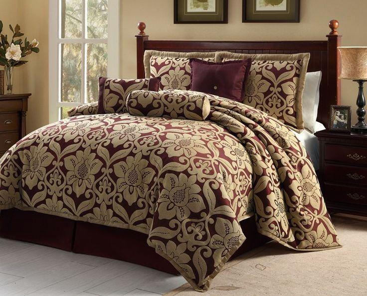 Luxury Comforters Sets Home Bedroom Luxury 7pc