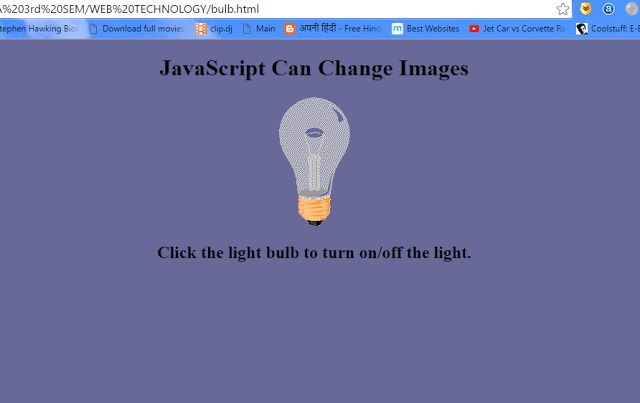 PROGRAMMING WITH C, C++ & JAVA: Create A HTML Page With JavaScript When We Click T...