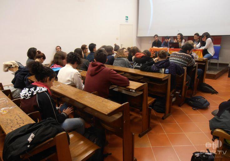 17 novembre. Giornata internazionale degli studenti. Perugia, Umbria, Italy. Incontro sulla legge regionale per il diritto allo studio.