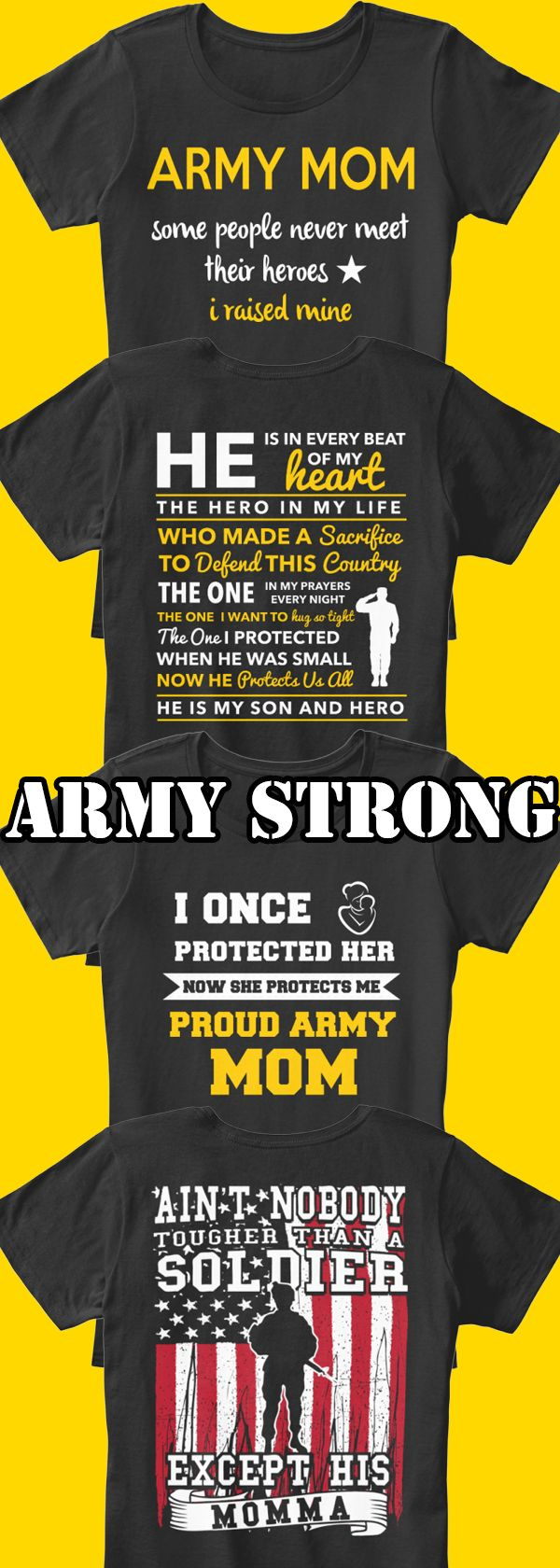 Are you a proud army mom or know someone who is? Show your support with these new shirts you can only find here. Great for you or as a gift! Only 2 days left for free shipping so act now! #ArmyStrong #Armymom
