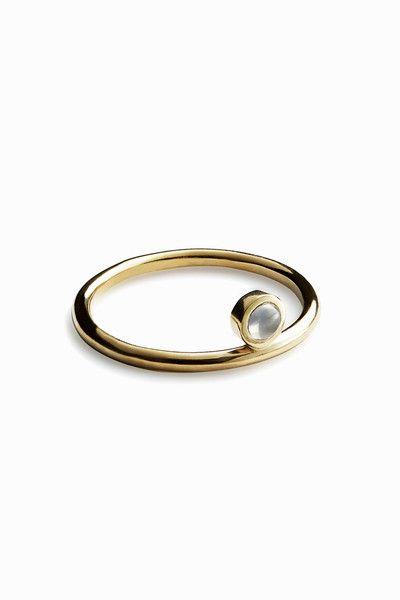 Trine Tuxen - Moon - Ring (Gold) - Adélie - 1