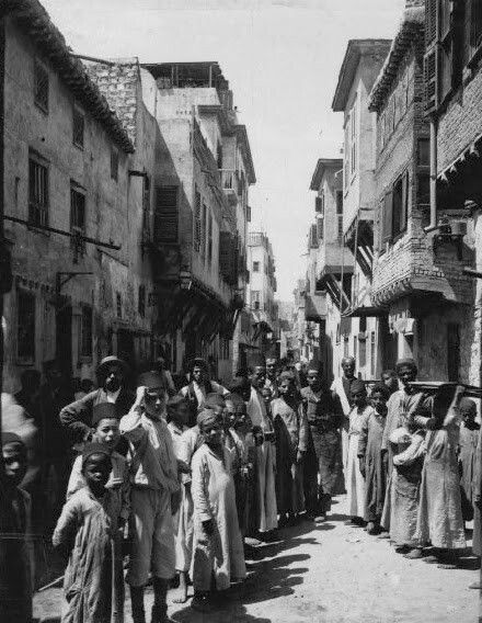 Zaoud-el Mara (Jewish Quarters) Alexandria, Egypt. A Library of Congress photo dates this picture from 1898