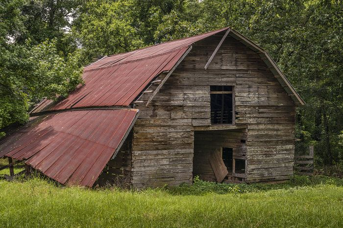 Needs a Roof Job by linda henderson on Capture Arkansas // A roofer may need to be called to save this one.