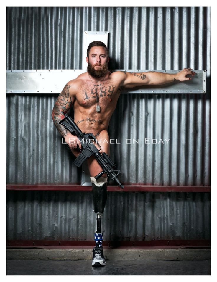 Original, signed, fine art photo by Michael Stokes - male nude amputee BRR1