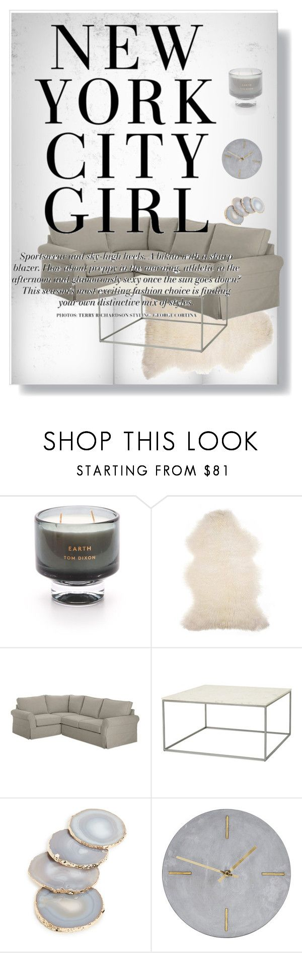 """""""Loft Style"""" by cassideepaige on Polyvore featuring interior, interiors, interior design, home, home decor, interior decorating, Tom Dixon, Barneys New York, Pottery Barn and House Doctor"""