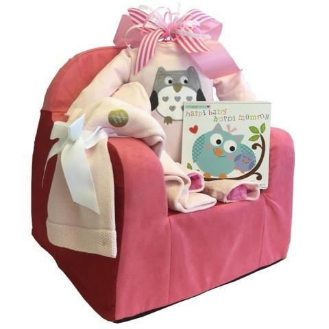 This Baby Girl Reading Sofa is apsolutly adorable and you she will love it. #babygiftbasketstoronto #babygirlgiftbaskets www.mybaskets.ca