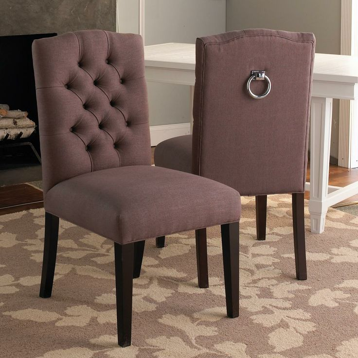 Tufted Back Dining Chair W Silver Ring 399 Dining