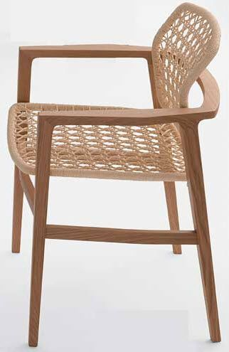 contemporary wooden chair with armrests PATIO/PR BY Studio Hannes Accademia