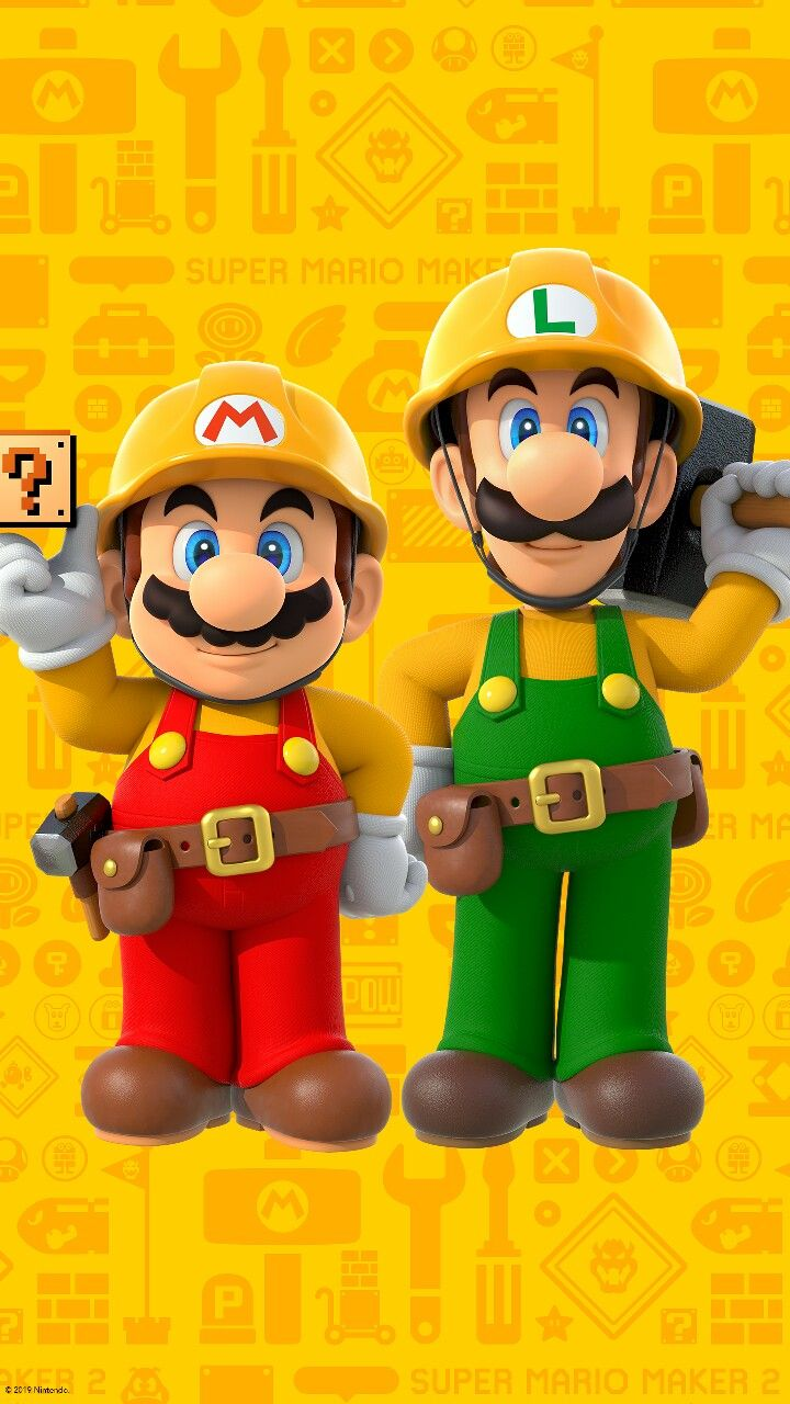 Mario Maker 2 Hd Phone Wallpaper Mario Super Mario Super Mario
