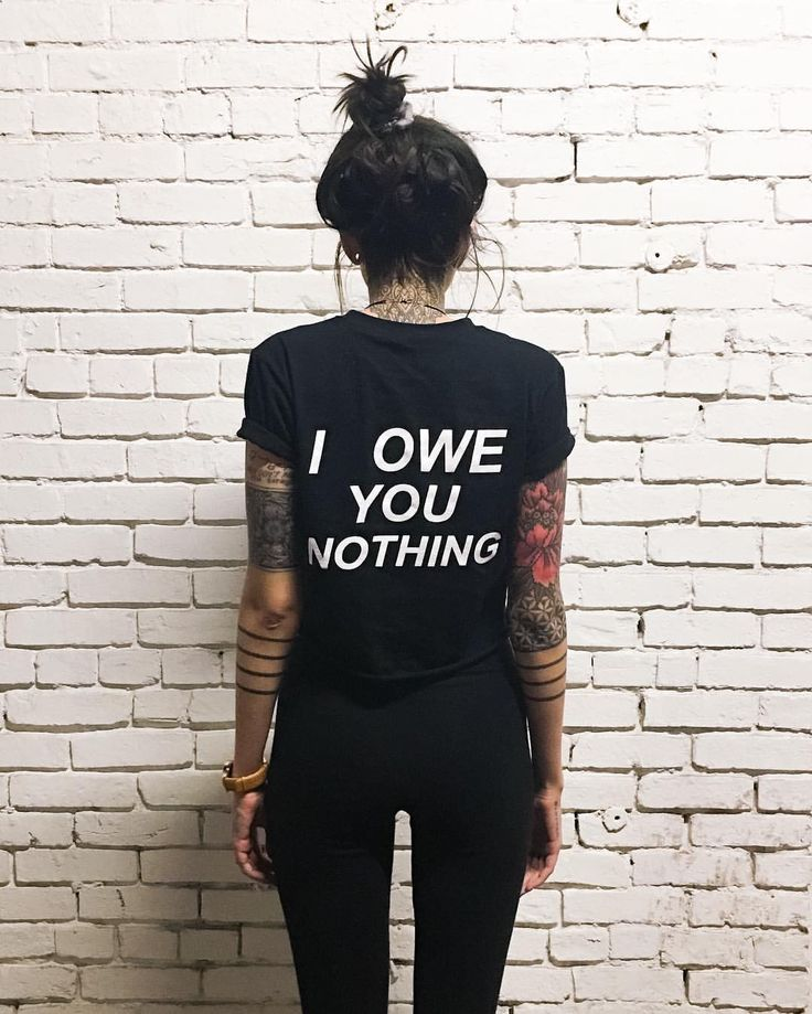 I owe you nothing t-shirt