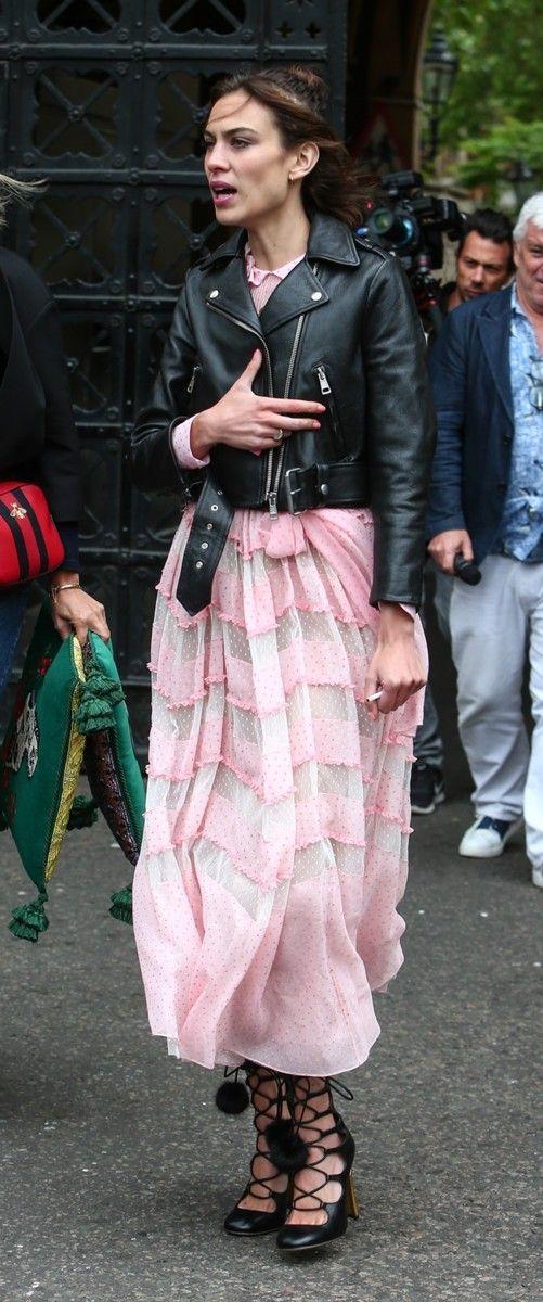 Los looks más nerd de Alexa Chung, Elle Fanning y Georgia May Jagger en el front row de Gucci