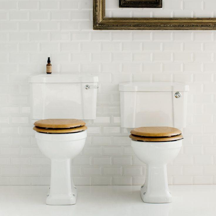 Burlington Regal Close Coupled Traditional Toilet - Ceramic Lever Flush Profile Image