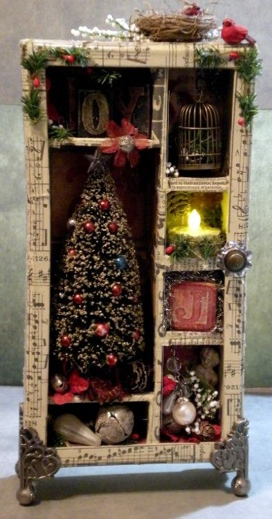 Oh the possibilities! Christmas shadow box.