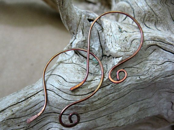 Elegant Copper Earwires 4 pairs Handcrafted by SupplyYourSoul, $7.00