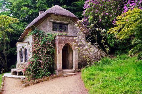 Gothic Cottage at Stourhead, Wiltshire.