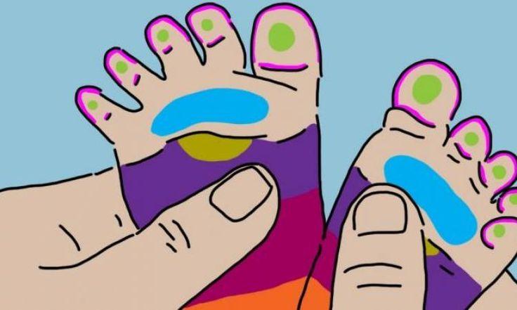 Les experts s'entendent pour dire qu'on peut apaiser les bébés grincheux, avec leurs pieds!