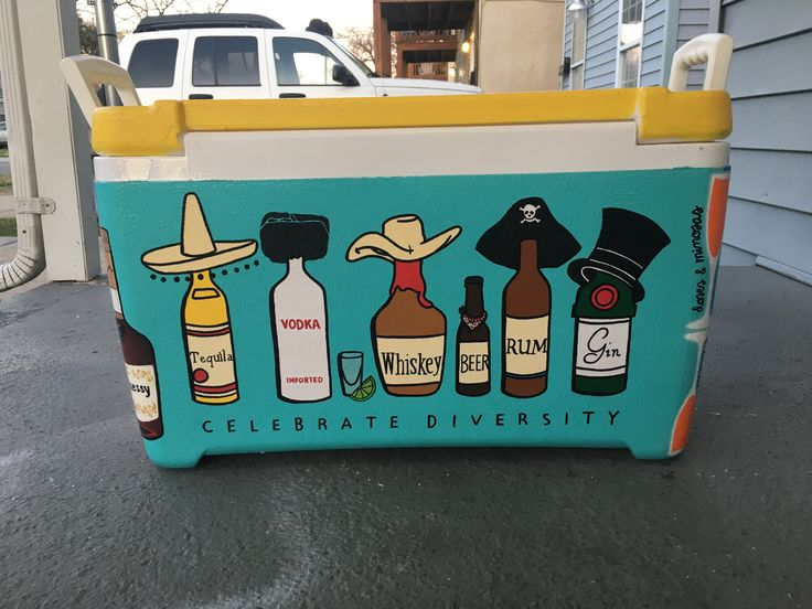 Celebrate diversity painted cooler