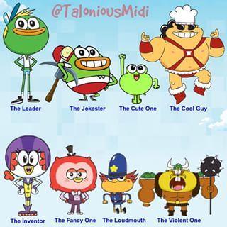 Spongebob squarepants characters names
