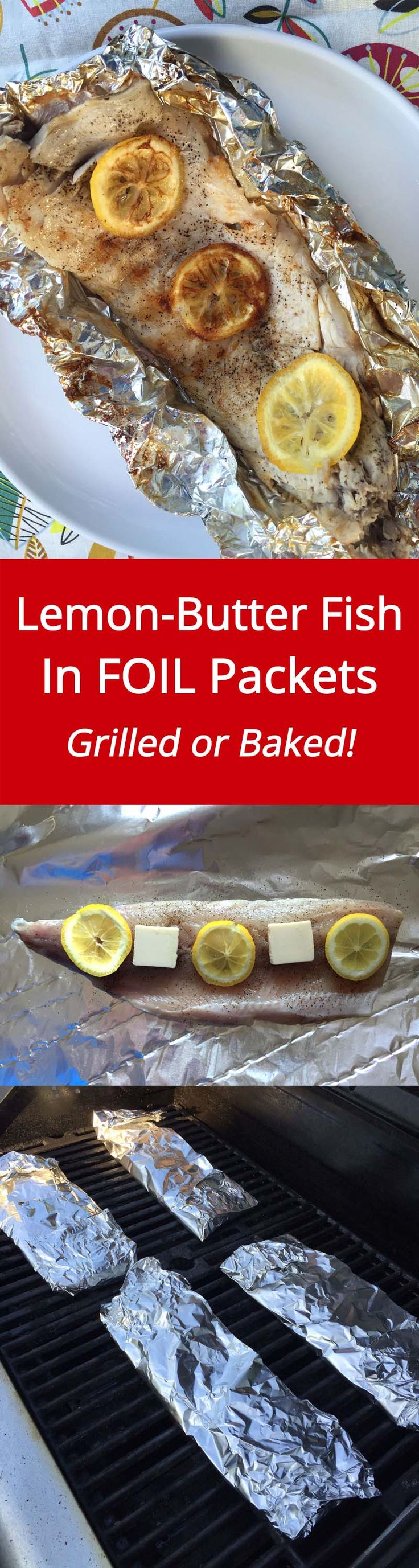 Lemon Butter Fish Recipe In Foil Packets - Grilled Or Baked! | MelanieCooks.com