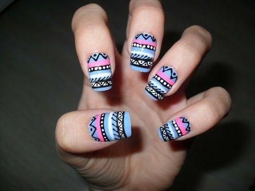 #NailArt #Tribal #Étnico
