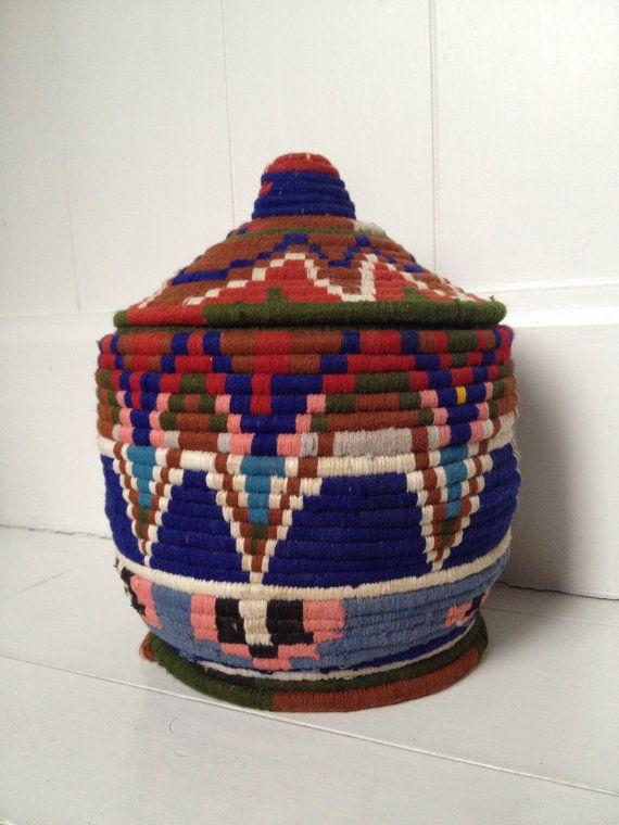 // vintage moroccan berber basket