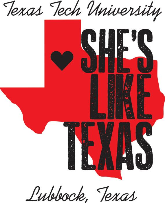 Texas Tech She's Like Texas Poster by PearlPrints on Etsy $20.00  #TTAA #SupportTradition