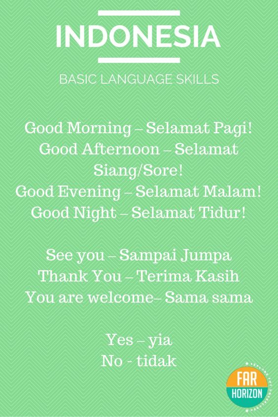 Bahasa Indonesia - Basic Indonesian Words. #indonesian #language #bahasa…