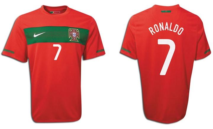 Nike Portugal Cristiano Ronaldo #7 World Cup 2010 Home Soccer Jersey (2010/11)
