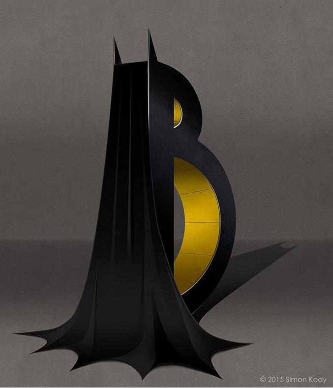 'Superbet' alfabeto de superhéroes y villanos