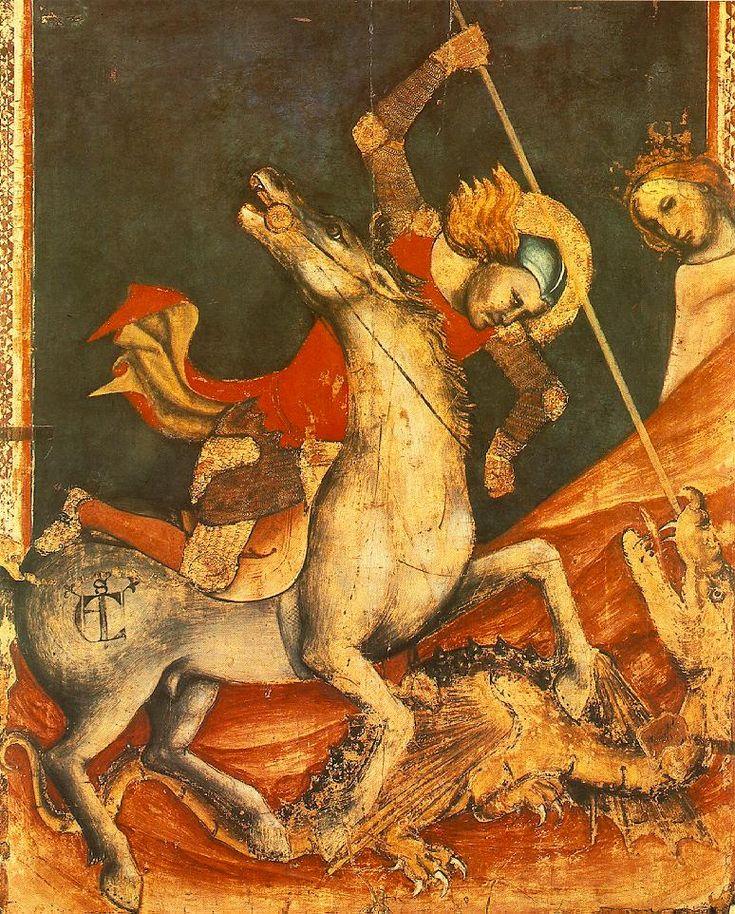 Vitale da Bologna, San Giorgio e il drago.