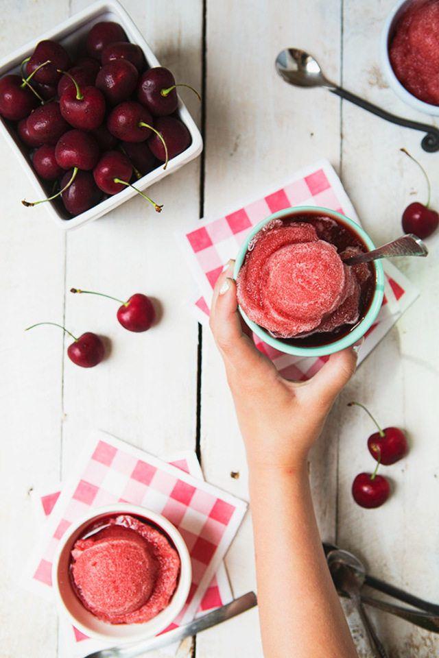 Homemade Cherry Ice #recipe via eHow.com