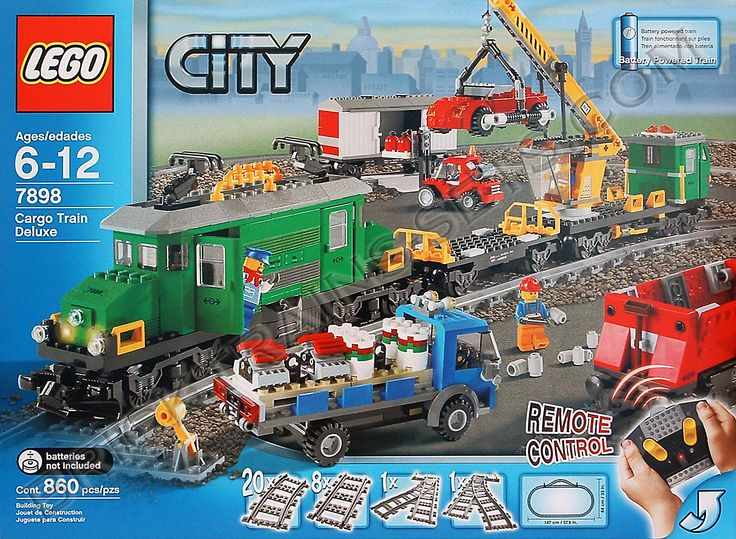 pictures of lego trains | the lego 7898 cargo train deluxe is a must have lego train set for the ...