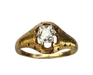 1860-70s Victorian Diamond Ring at Erie Basin.: Cut Diamonds, Vintage Engagement Rings, Victorian Diamonds, 186070S Victorian, Vintage Rings, Diamonds Rings, 22K Gold, Victorian Engagement Rings, 1860 70S Victorian