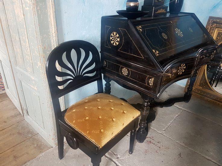 eladó szecessziós szék íróasztallal dolgozószoba berendezéséhez