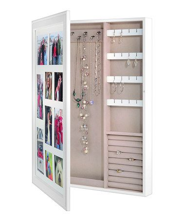 White Photo Frame Jewelry Box Zulily Zulilyfinds Neat Jewelry