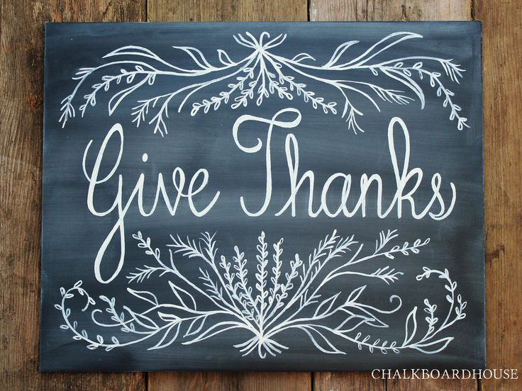 Give thanks with this gorgeous hand-painted sign.