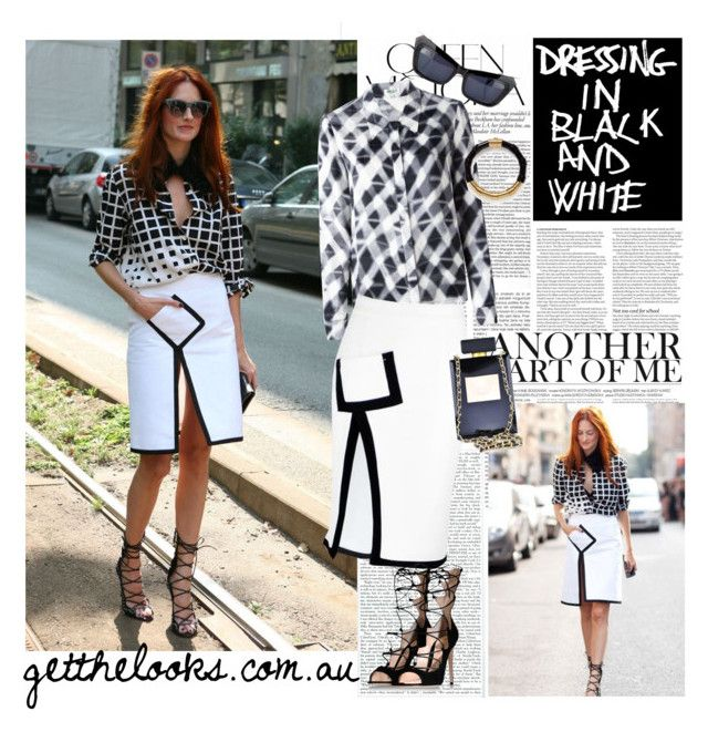 """""""GET Taylor Tomasi Hill's Mono LOOK"""" by getthelooks ❤ liked on Polyvore featuring Victoria Beckham, ASOS, Kenzo, Lanvin, Gianvito Rossi, StreetStyle, monochrome and fashionWeek"""