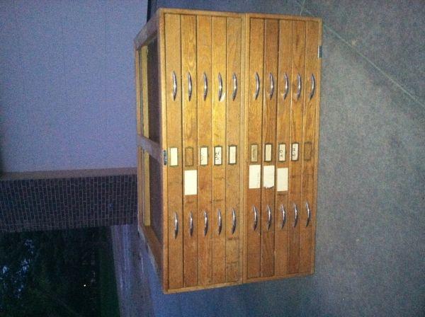 83 best craigslist finds images on pinterest campaign cobalt antique wood blueprint cabinet malvernweather Gallery